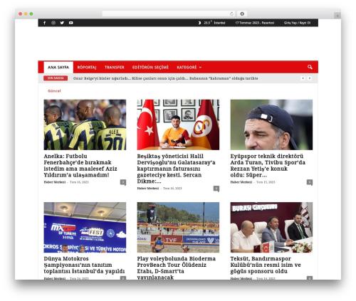 NewsMag template WordPress - futbolmedya.com