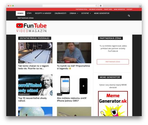 NewsMag WordPress theme design - funtube.sk