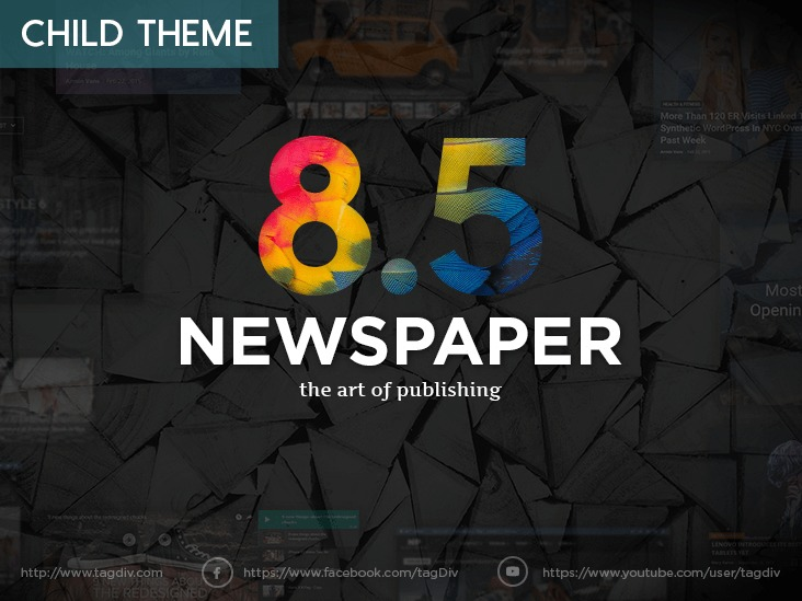 Newspaper 8 Child theme newspaper WordPress theme