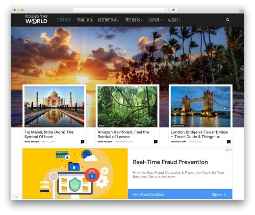 Newspaper best WordPress magazine theme - foundtheworld.com