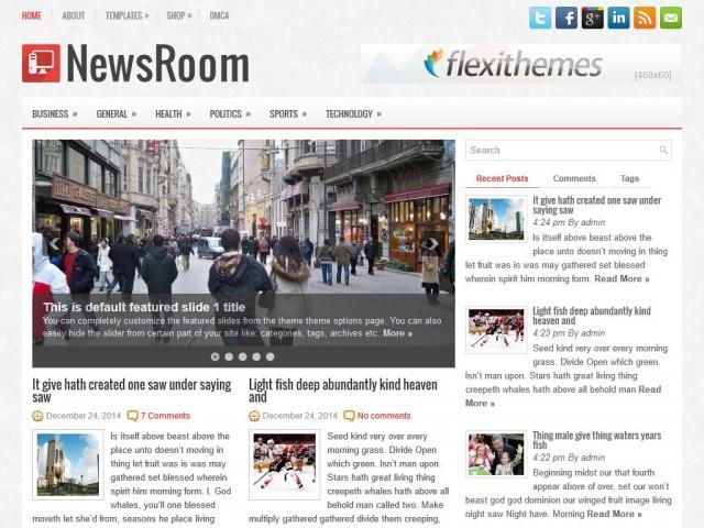 Newsroom WordPress magazine theme