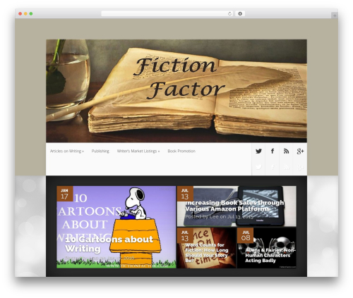 Nexus WordPress theme design - fictionfactor.com