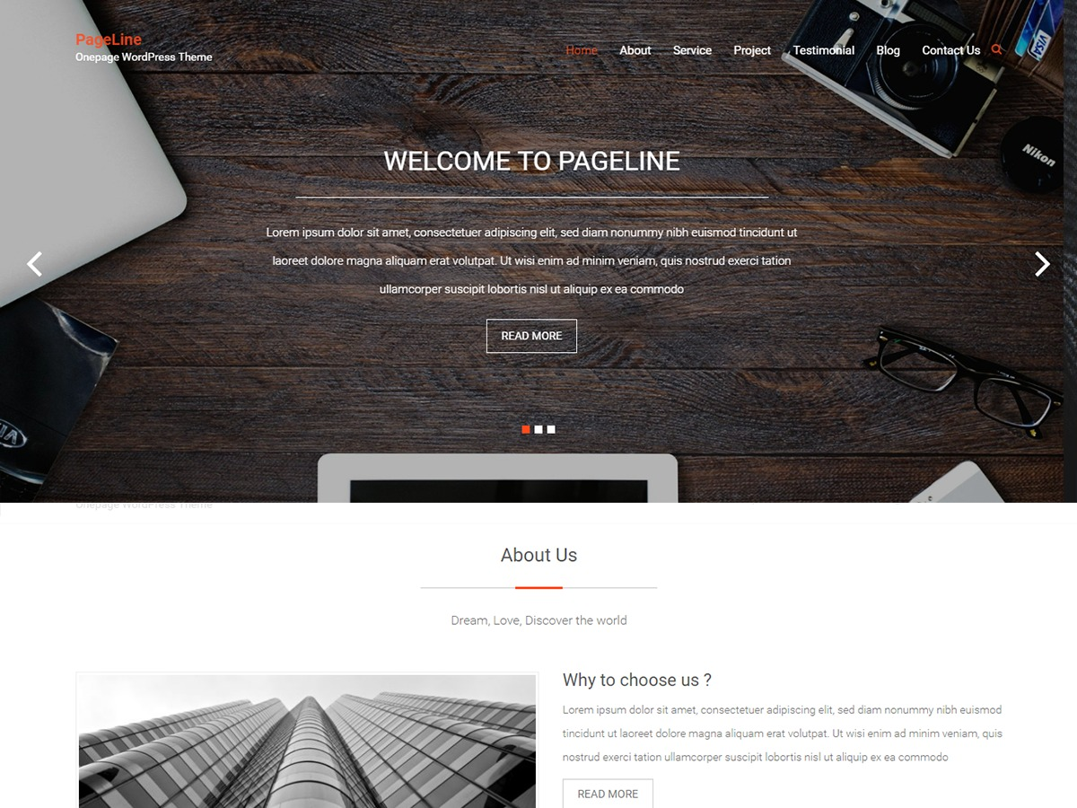 PageLine WordPress template free download