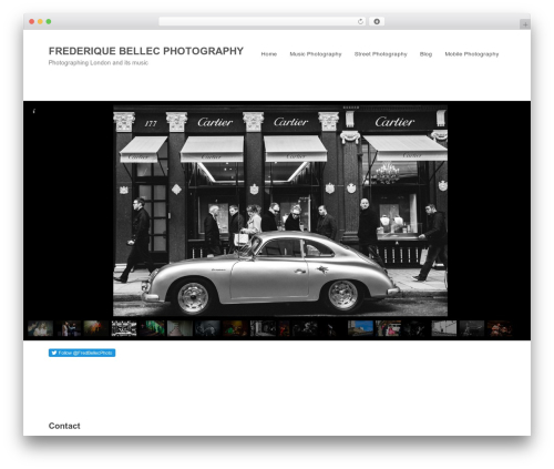 Sider photography WordPress theme - frederiquebellecphotography.com