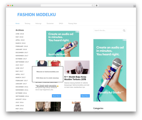 Split fashion WordPress theme - fashionmodelku.com