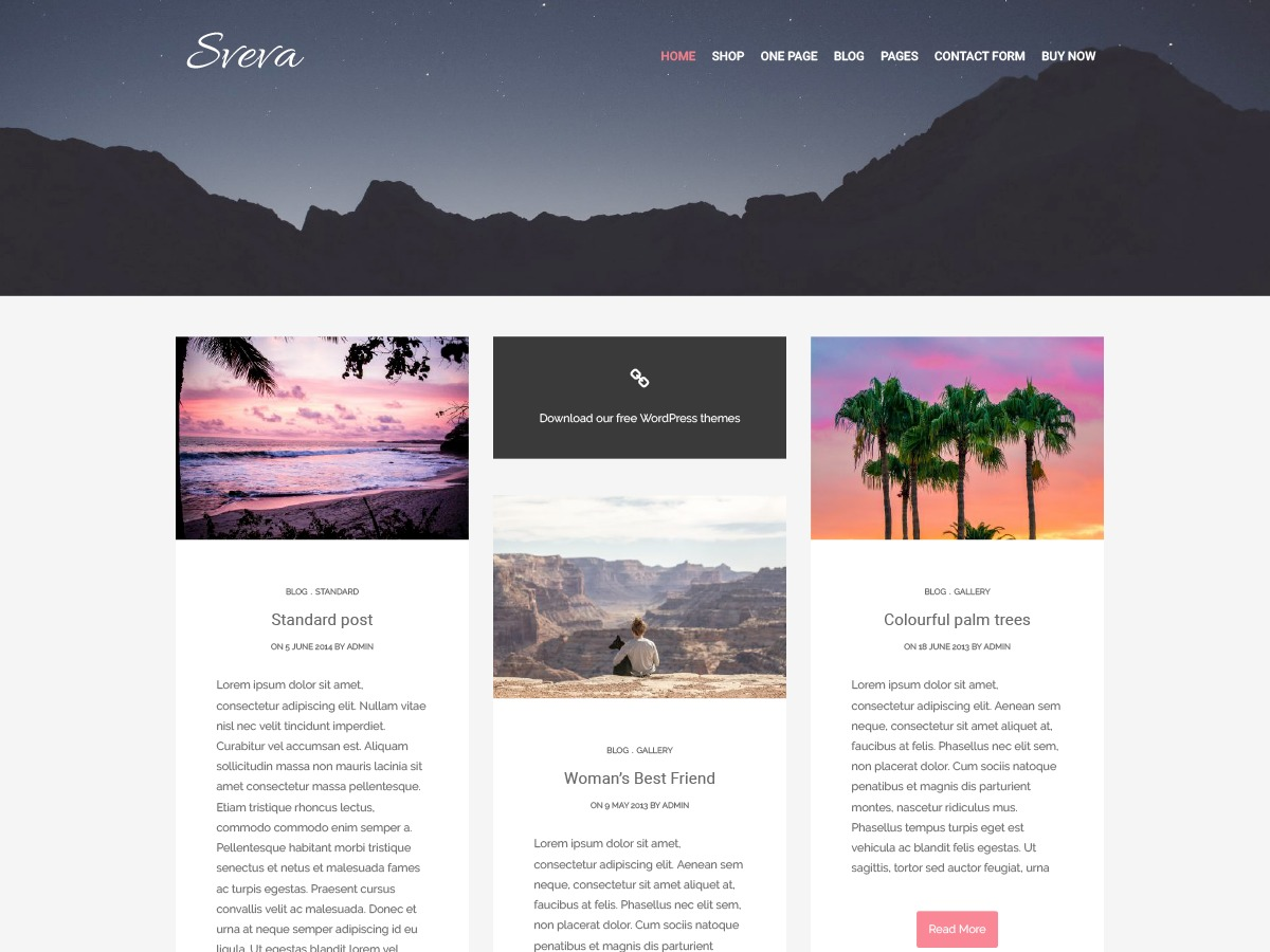 Sveva WordPress travel theme