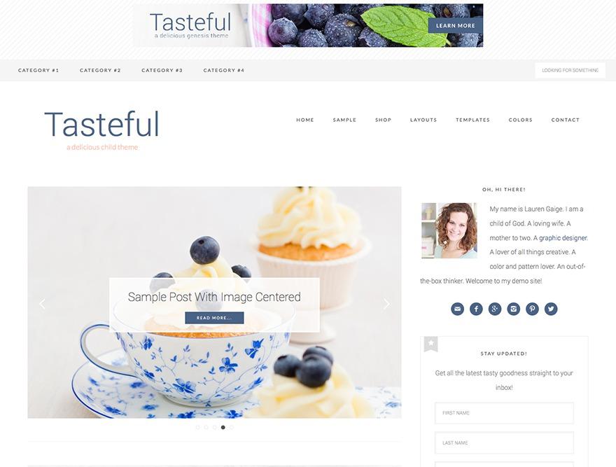 Tasteful Theme WordPress shopping theme