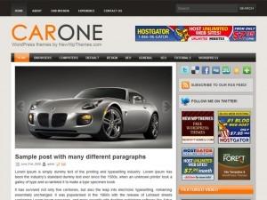 Theme WordPress Car One