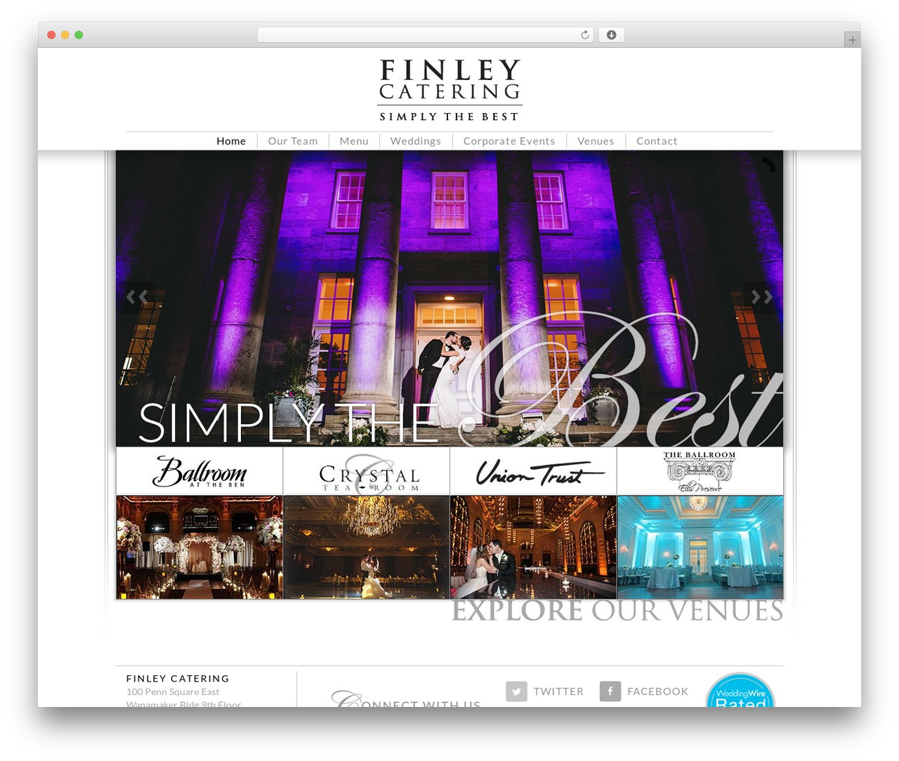 Theme WordPress Finley Catering - finleycatering.com