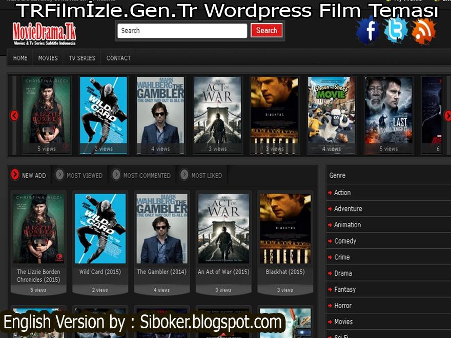 TRFilmİzle.Gen.Tr Wordpress Film Teması theme WordPress