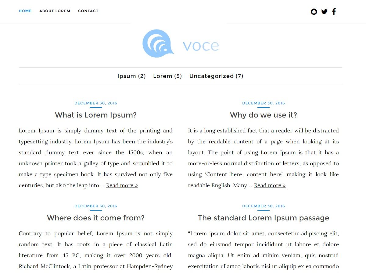 voce free WP theme