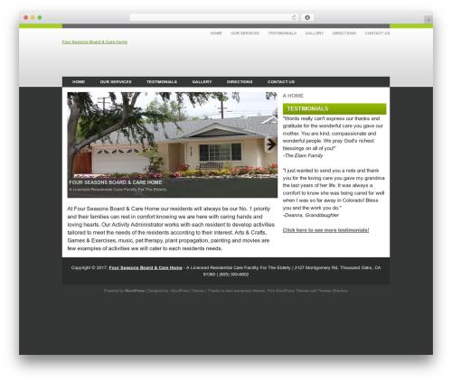 WordPress template iEducation - fourseasonselderlycare.com