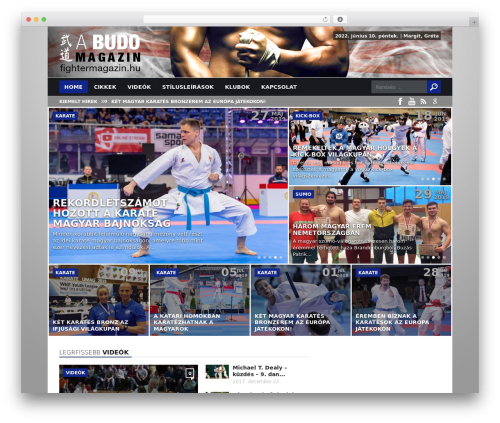 WordPress template Today - fightermagazin.hu
