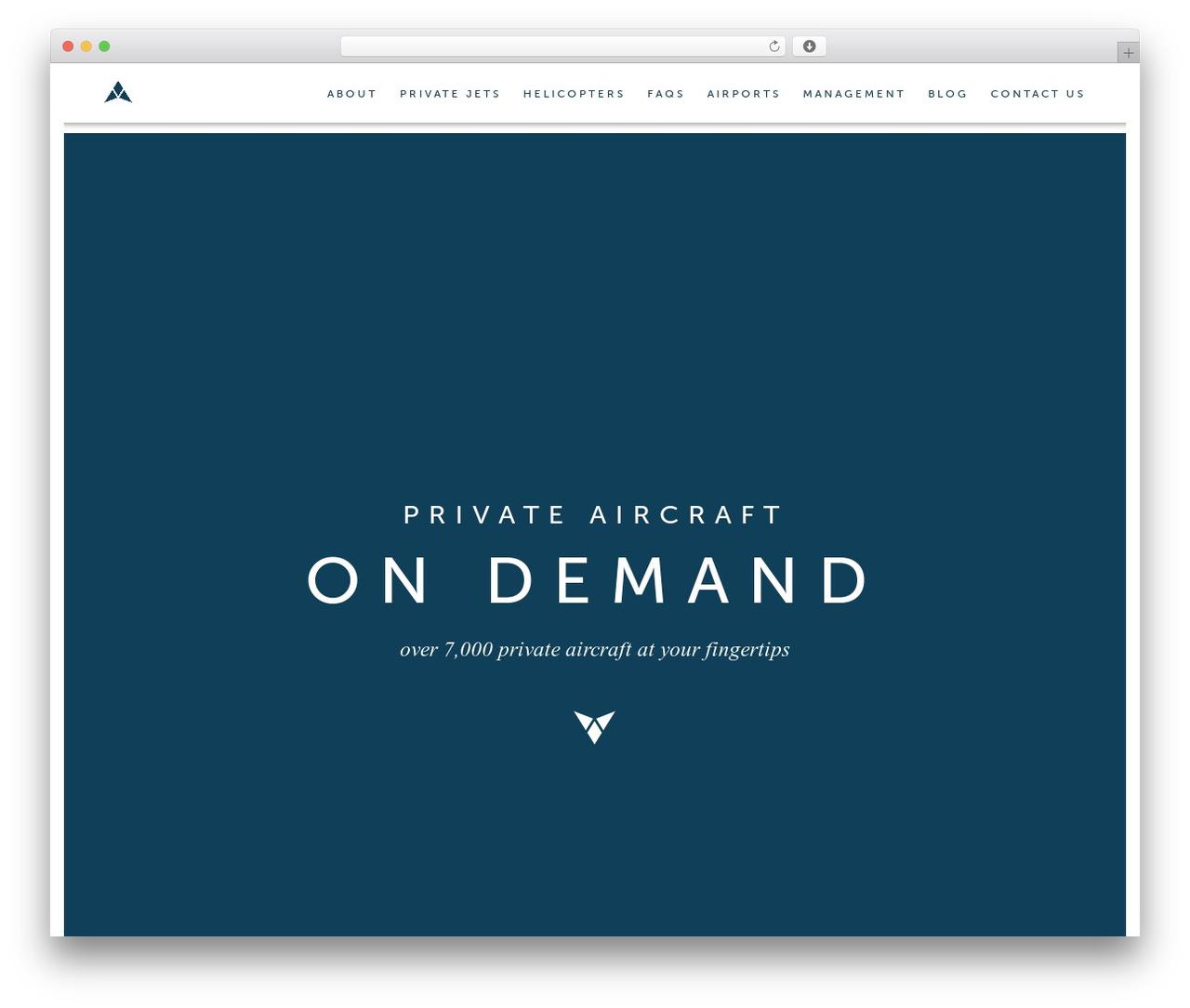 WordPress theme Avion - flyavion.com
