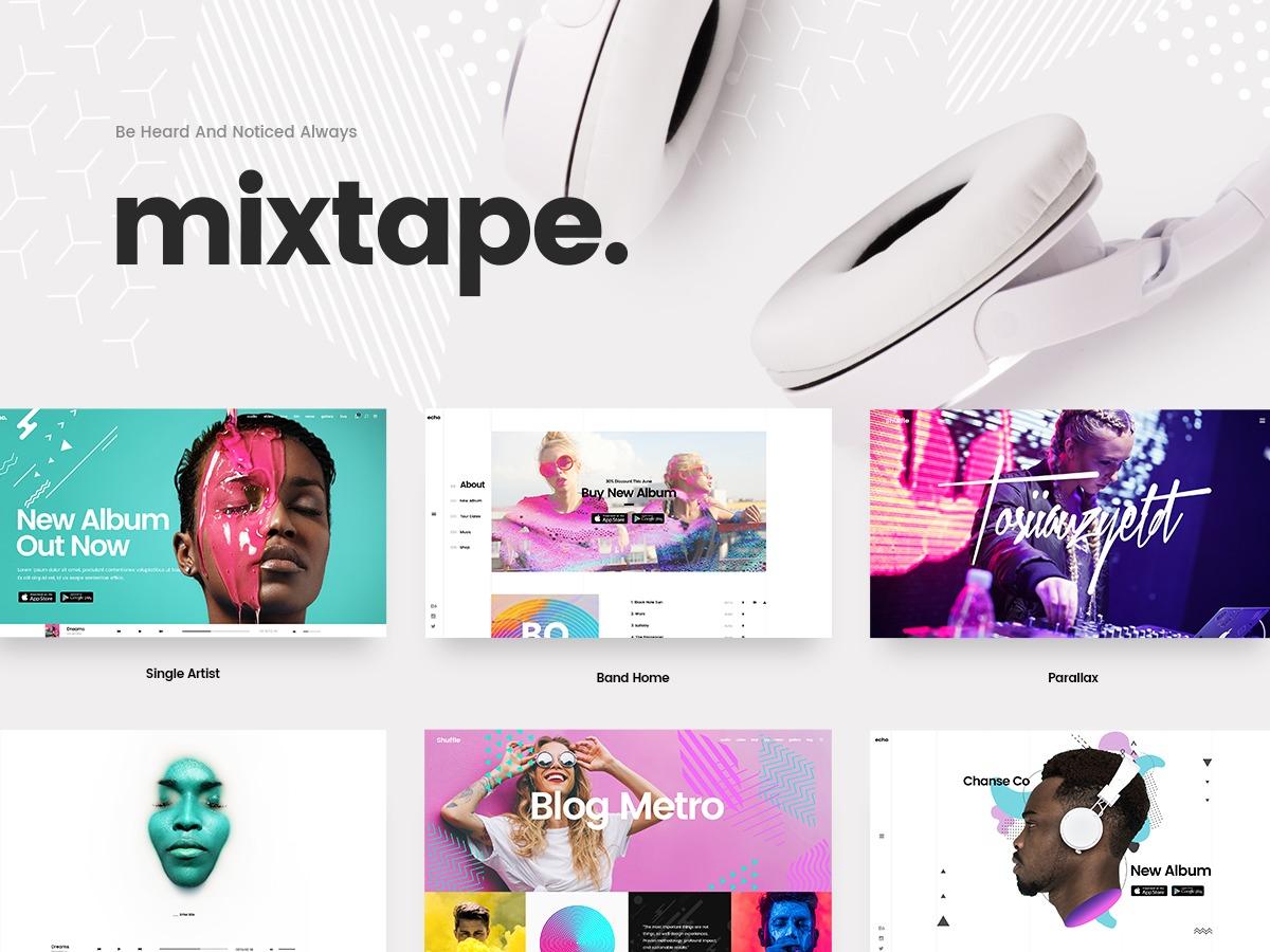 WordPress theme MixtapeWP Child