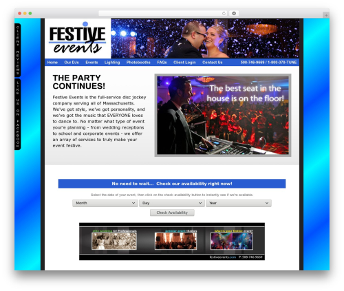 WordPress theme ProPhoto - festiveevents.com
