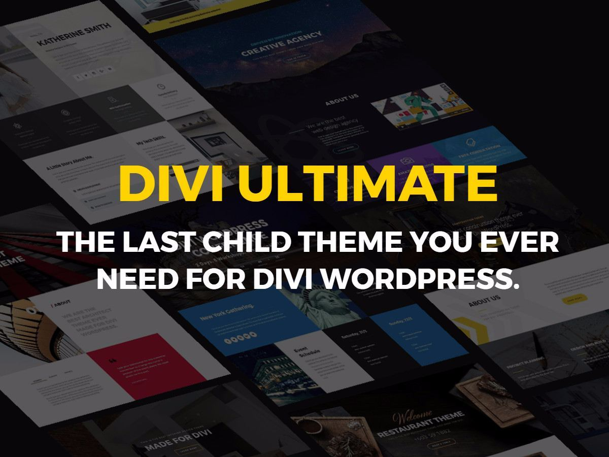 WordPress website template Divi Ultimate