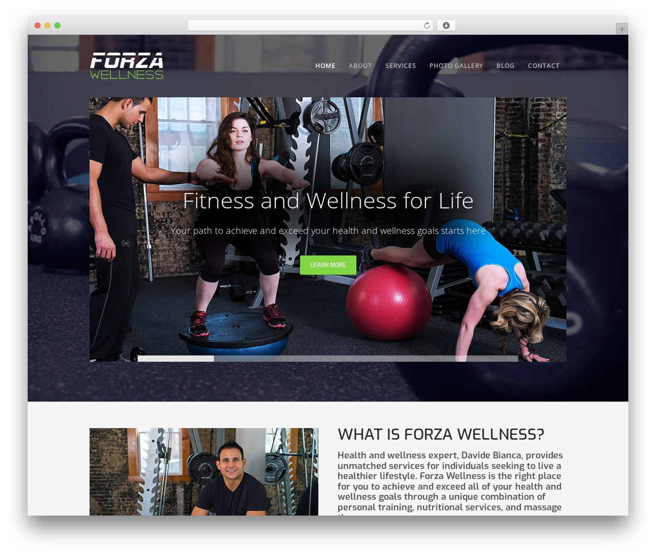 Workout WP theme - forzaphilly.com