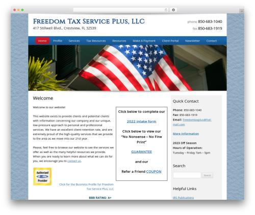 WP theme Customized - freedomtaxplus.com
