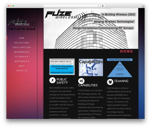 X WordPress theme - fuzewireless.com