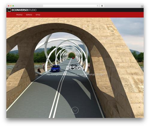 AccessPress Parallax free website theme - econversostudio.com/en
