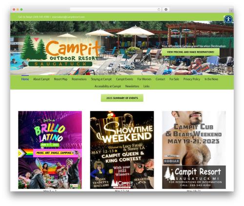 Avada top WordPress theme - campitresort.com