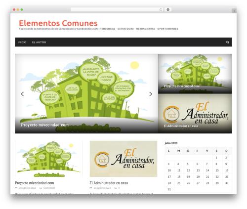 Awaken Pro WordPress blog theme - elementoscomunes.com