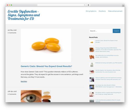 Bravo WordPress website template - erectiledysfunctionstop.com