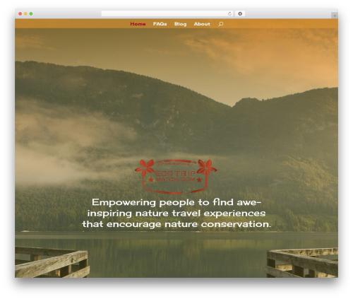 Divi WordPress travel theme - ecotripmatch.com