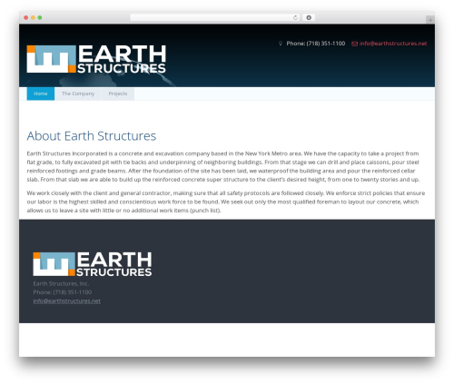 Earth Structures WordPress theme design - earthstructures.net