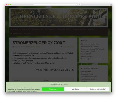 Free WordPress Organic Builder Widgets plugin - ehrenleitner-bucher.de