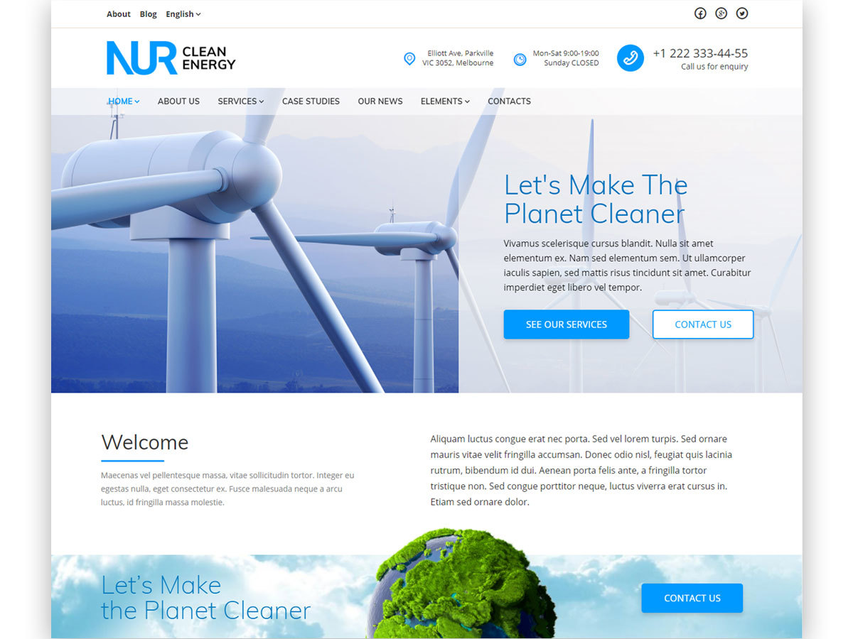 Nur template WordPress