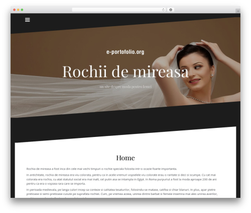 Oblique WordPress template free download - eportfolio.org