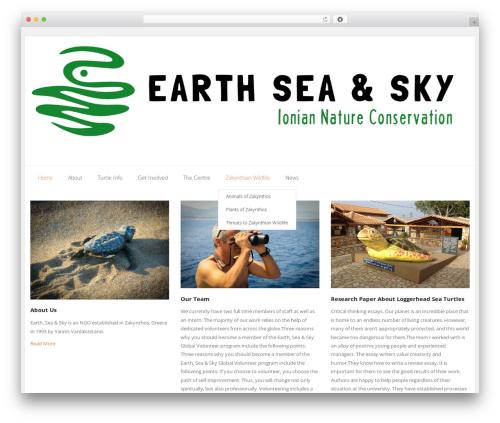 Sento Pro WordPress theme design - earth-sea-sky-global.org