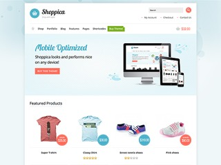 Shoppica Child WordPress ecommerce template