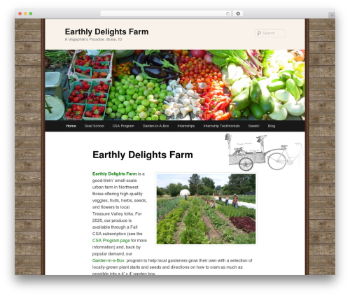 Twenty Eleven free WordPress theme - earthlydelightsfarm.com