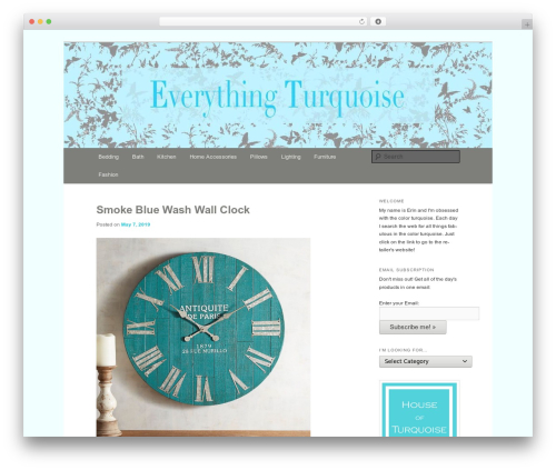 Free WordPress Twenty Eleven Theme Extensions plugin - everythingturquoise.com