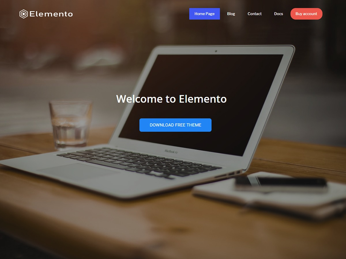 WordPress template elemento