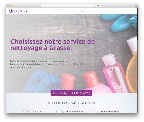 WordPress theme Betheme - eaupublique.fr
