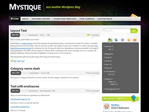 WordPress theme Mystique