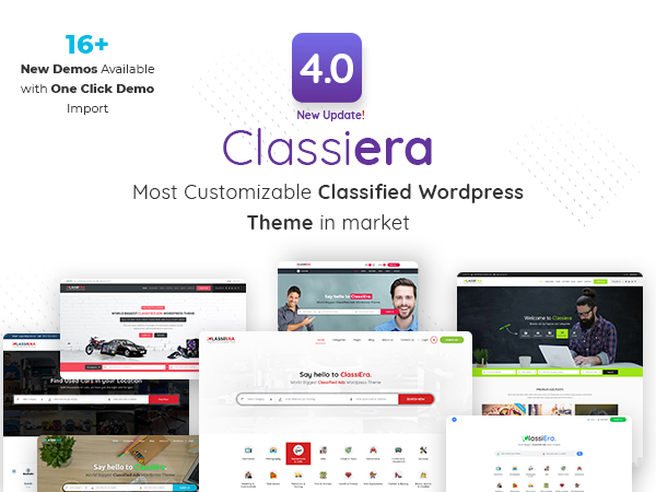 WordPress website template Classiera | Shared by VestaThemes.com