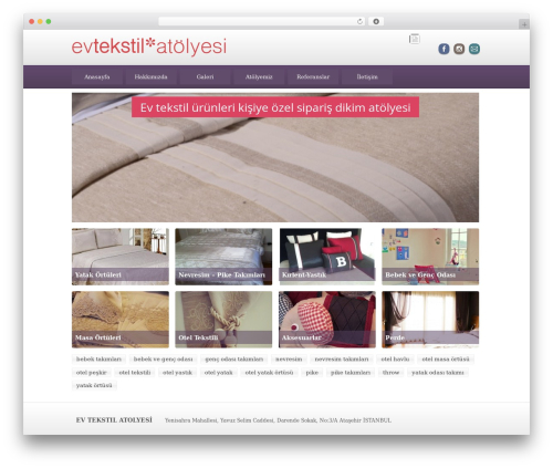 Best WordPress template BLANK Theme - evtekstilatolyesi.com