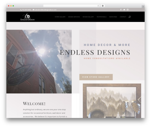Best WordPress theme Divi - endlessdesignsdecor.com