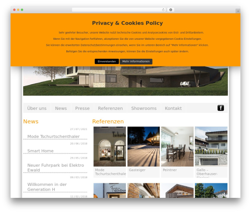 BLANK Theme WordPress theme design - ewald.it