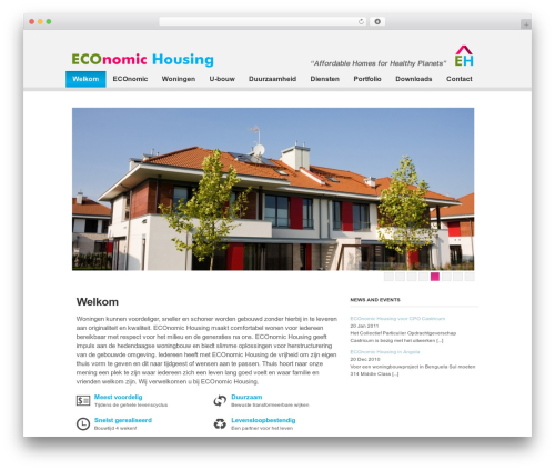 Clearly Modern theme WordPress - economichousing.nl