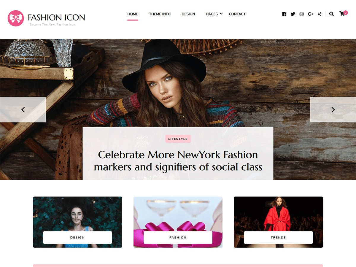 Fashion Icon WordPress blog theme