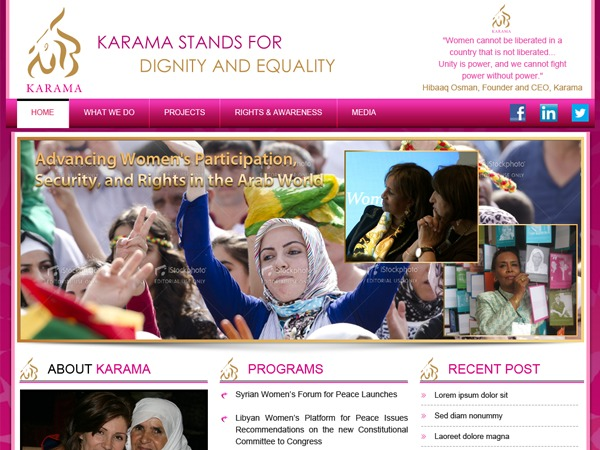 Karama WordPress theme