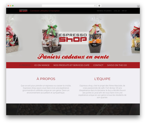 Omni WordPress shop theme - espressoshop.ca