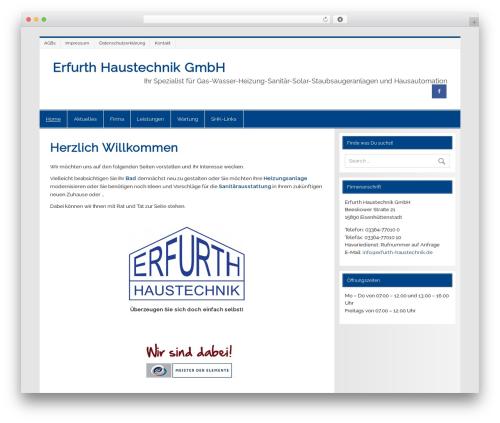 Smartline WordPress theme - erfurth-haustechnik.de