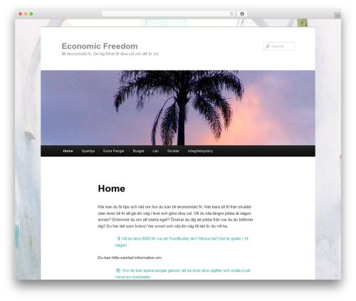 Twenty Eleven WordPress template free download - economicfreedom.se